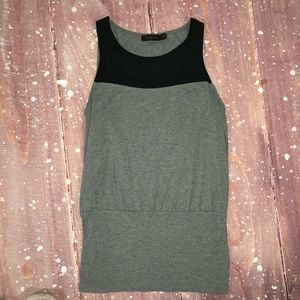 The Limited Black And Grey Stretchy Tank Top